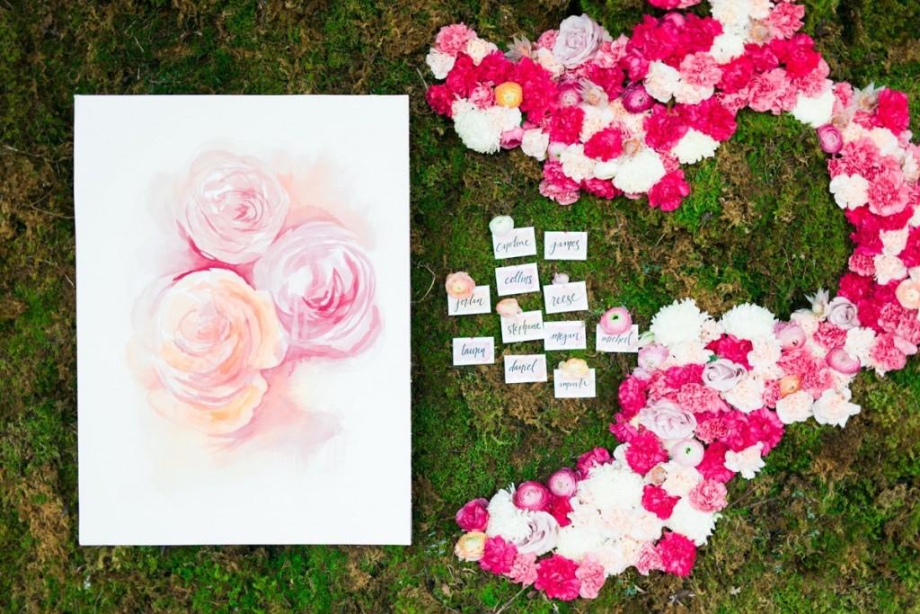 Spring Watercolor Wedding Inspiration 50