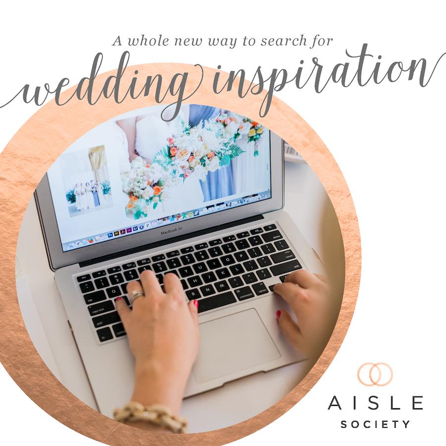 aisle society search wedding inspiration