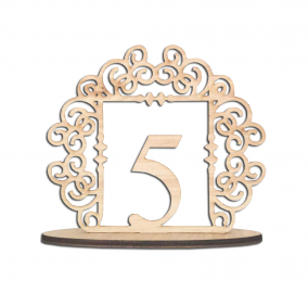 Clayton Scroll Table Number