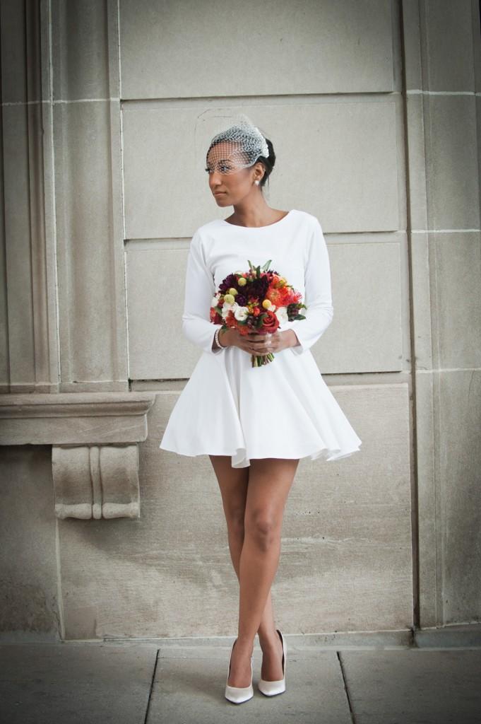 little white wedding dress for chic elopement