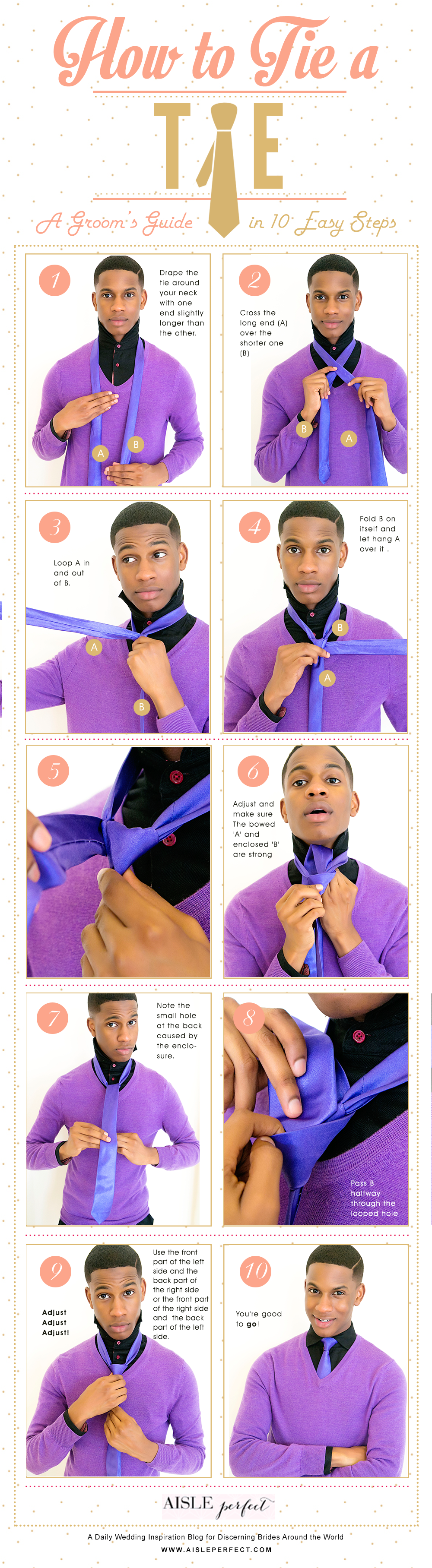 How To Tie a Tie Tutorial- Aisle Perfect