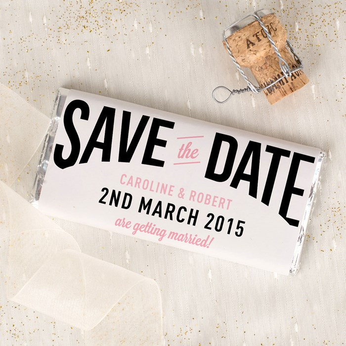 Personalize Chocolate Bar Save the Date