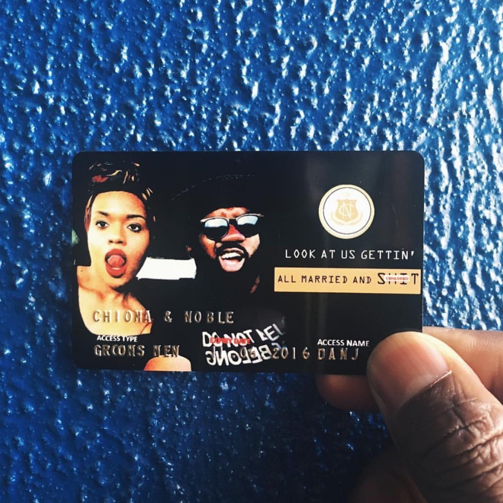 Credit Card Save the date access card