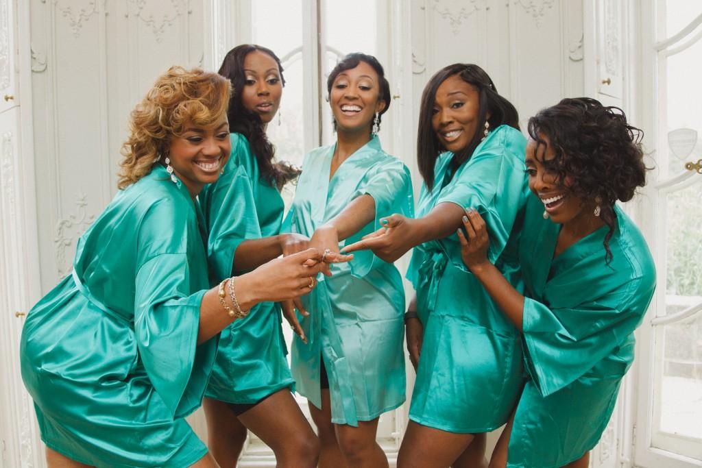 Mint bridesmaid robes