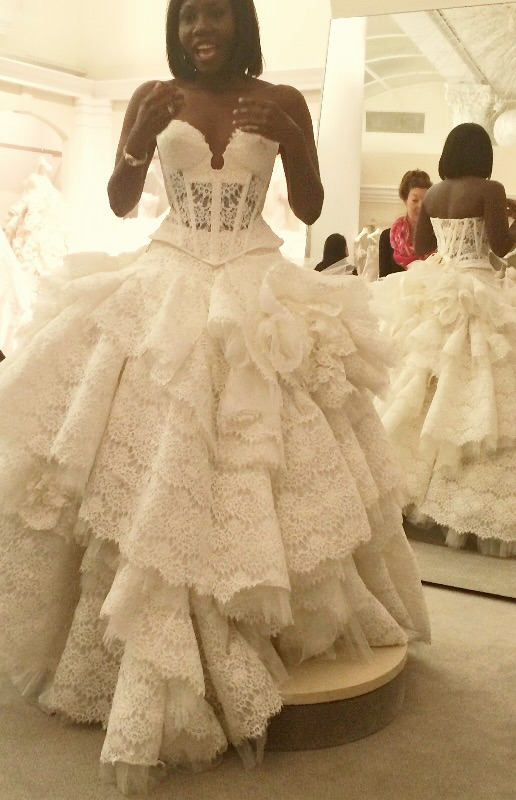 Ball Gown with corset bodice