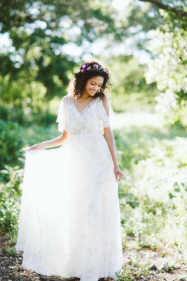 White Whimsicla Bridesmaids Dress