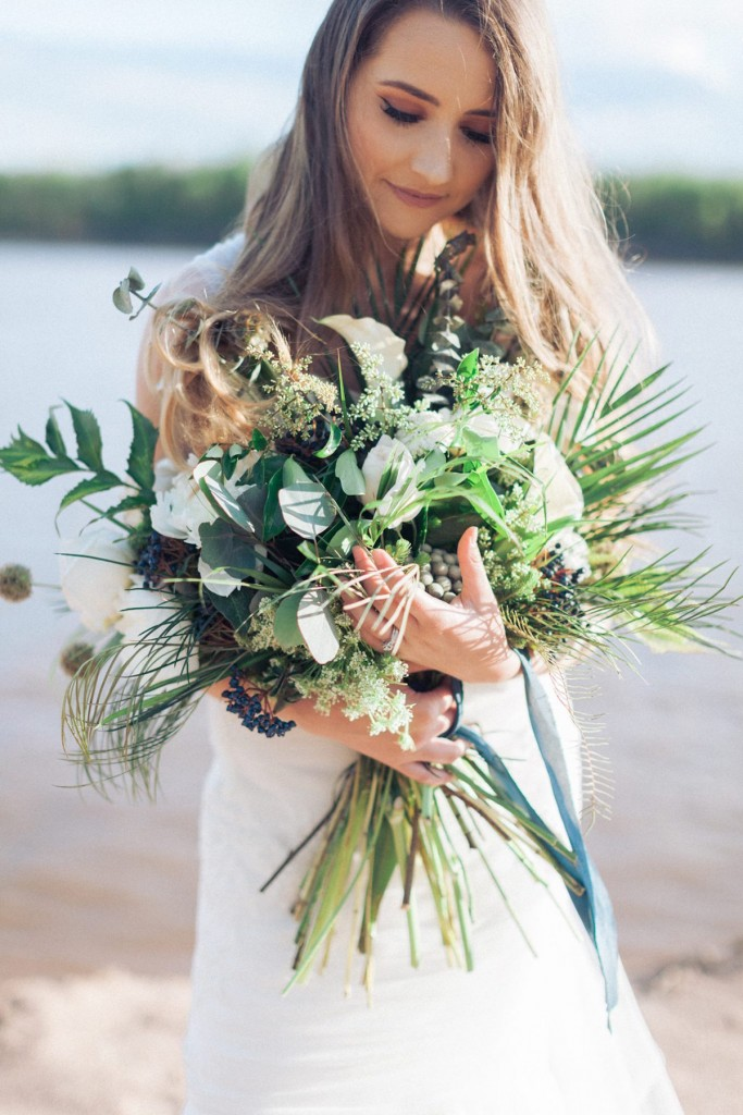 Wild greenery garden bouquet