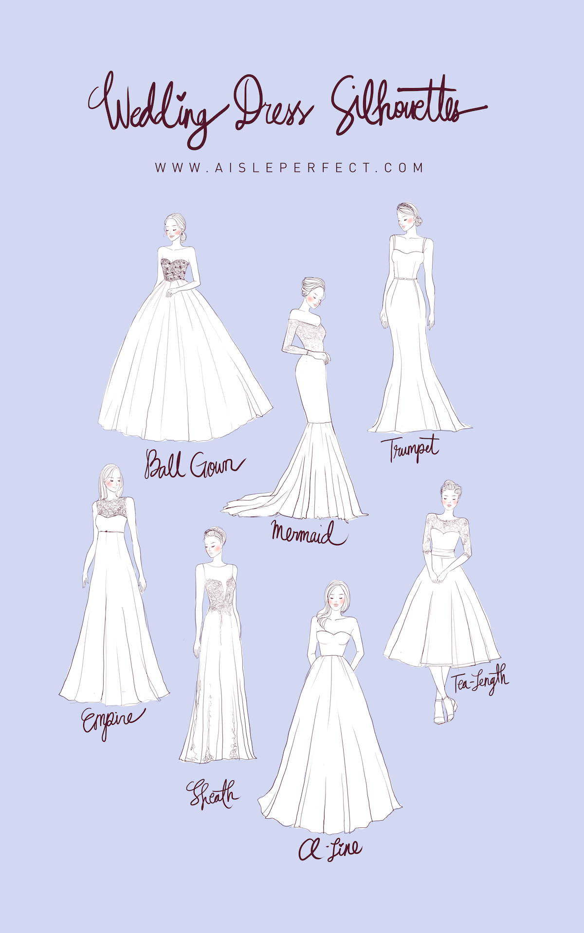 Planning 101: Wedding Dress Silhouettes   Perfete
