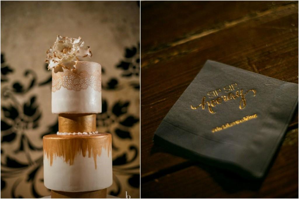 sip sip hooray branded wedding napkins