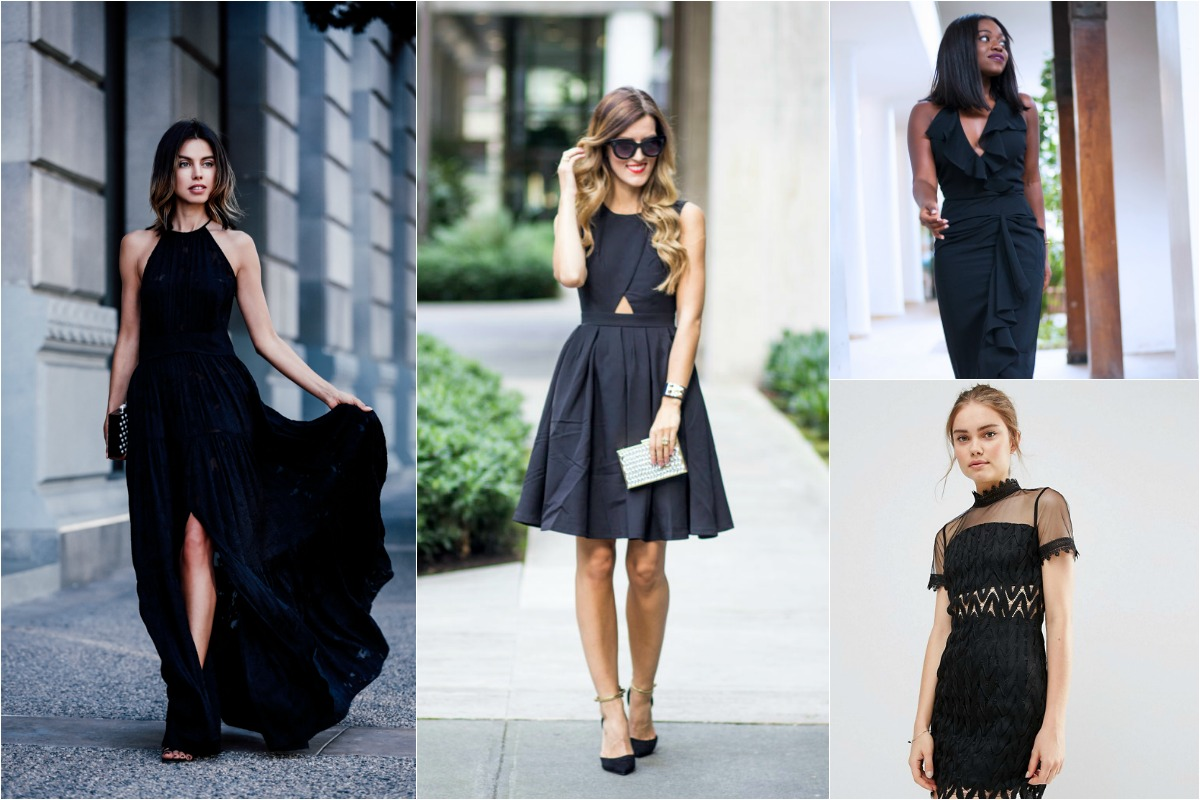 Black dress guest wedding - Black Wedding Guest Outfits 2