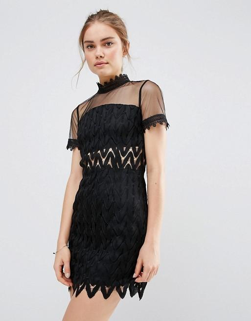 black wedding guest dress