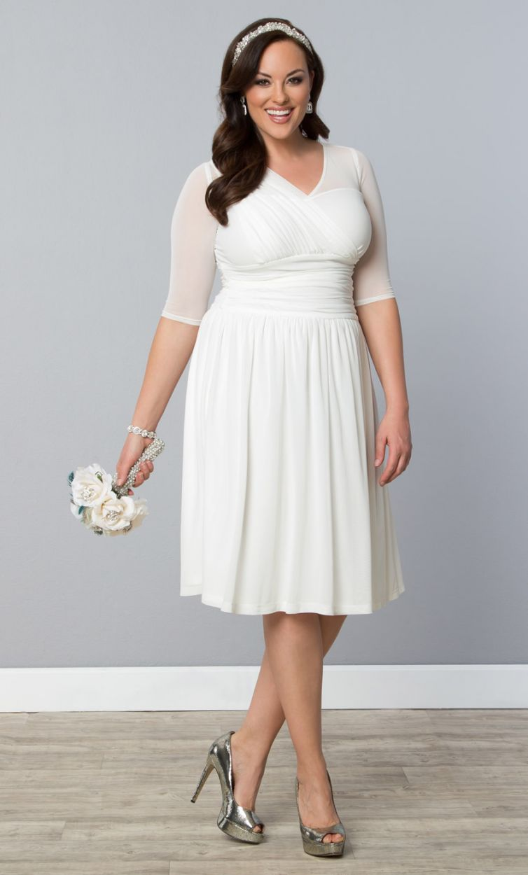 10 prettyperfect plus size bridal shower outfits aisle for Dress for wedding shower