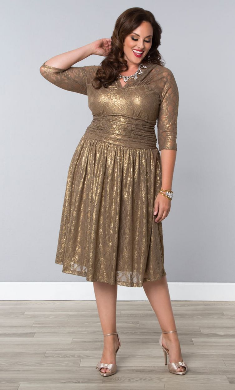 Champagne Colored Plus Size Dresses