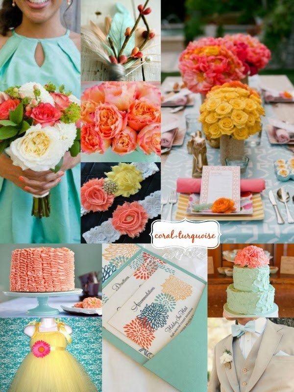 6c25f2989c6bc Inspiration | Coral Turquoise and Yellow Wedding - Perfete
