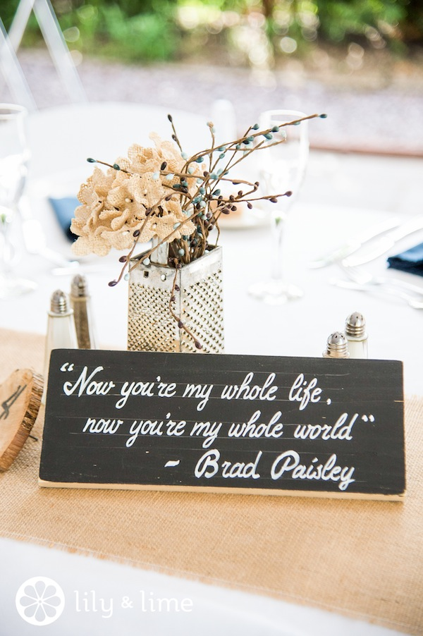 wedding sign _ brad paisley