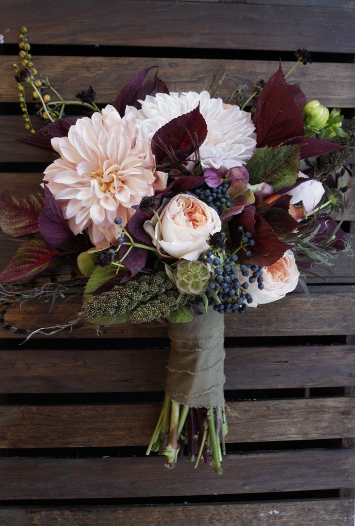 cream-with-burgundy-leaves-bouquet
