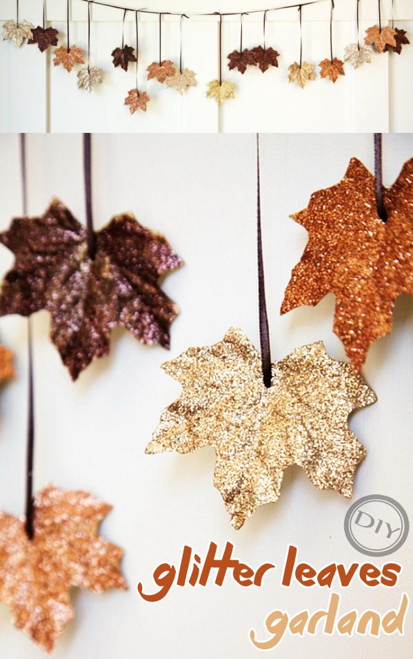 glitter-leaf-garland