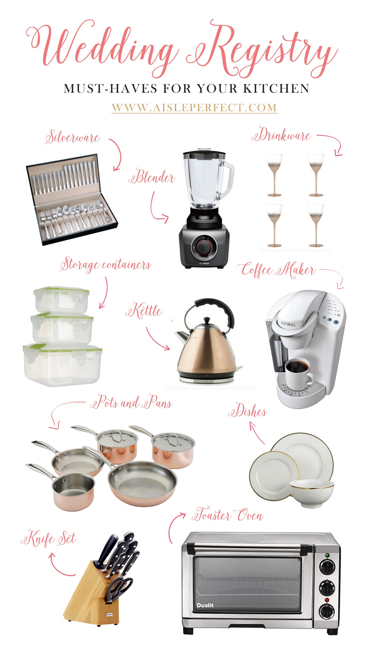 wedding-registry-must-haves-for-your-kitchen  sc 1 st  Aisle Perfect & Registry Must-Haves for your Kitchen + Introducing BK Gifts Angels ...