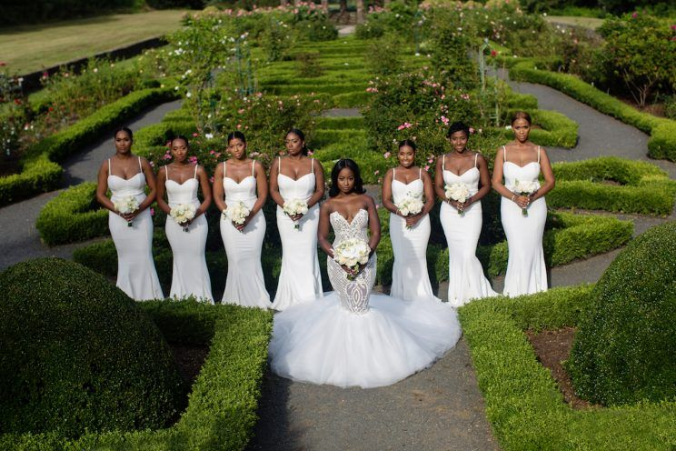 all-white-bridesmaids-dresses