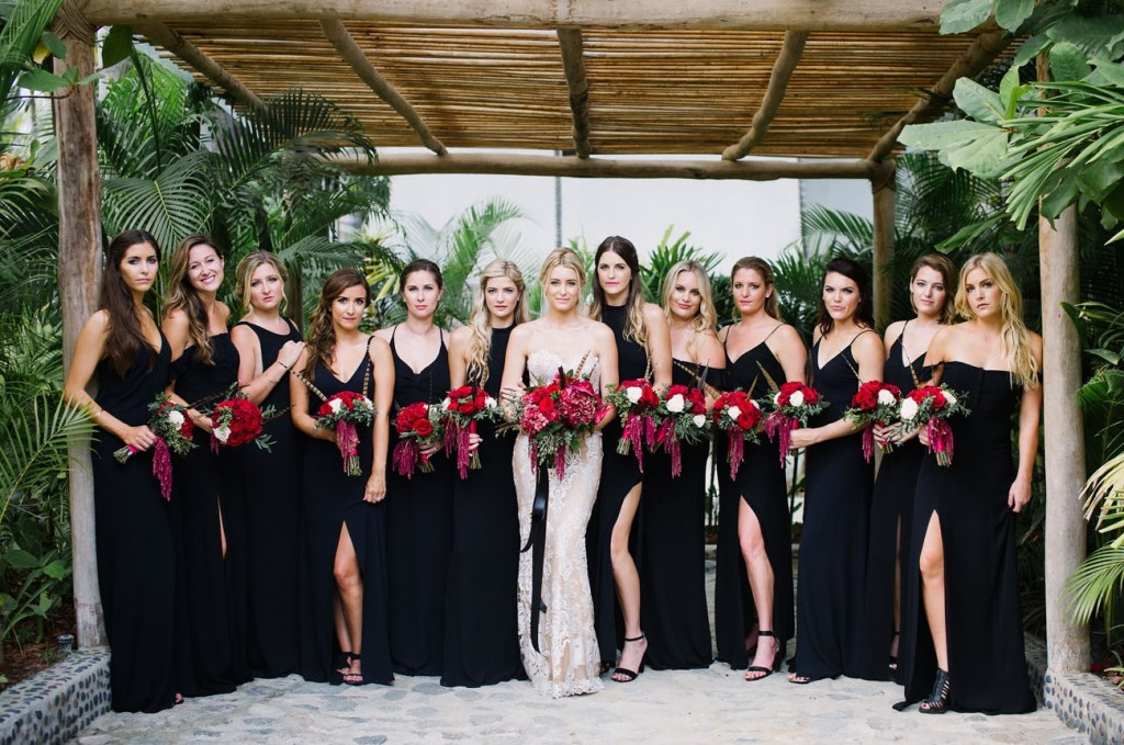 black-long-bridesmaids-dresses