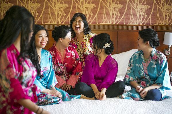 colorful bridesmaid robes