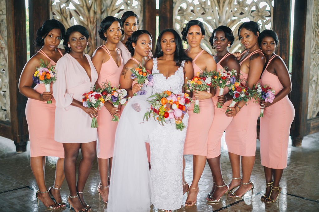 coral-peach-bridesmaids-dresses
