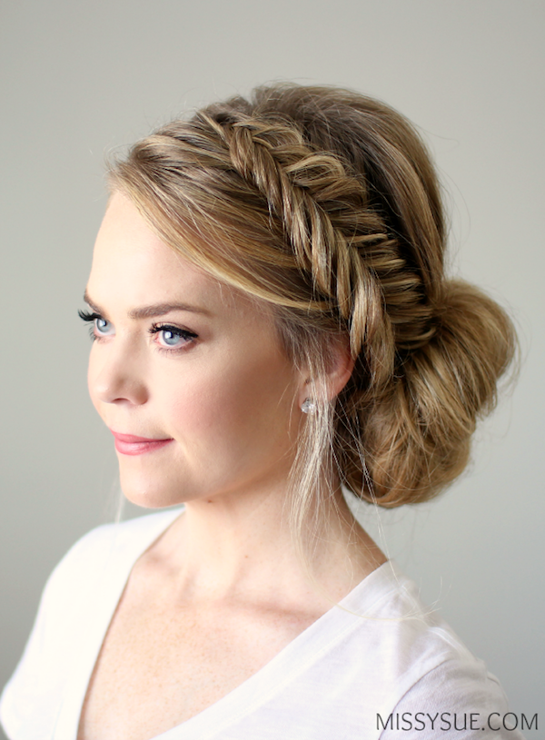 fishtail-braid-low-chignon-bridal-hairstyle