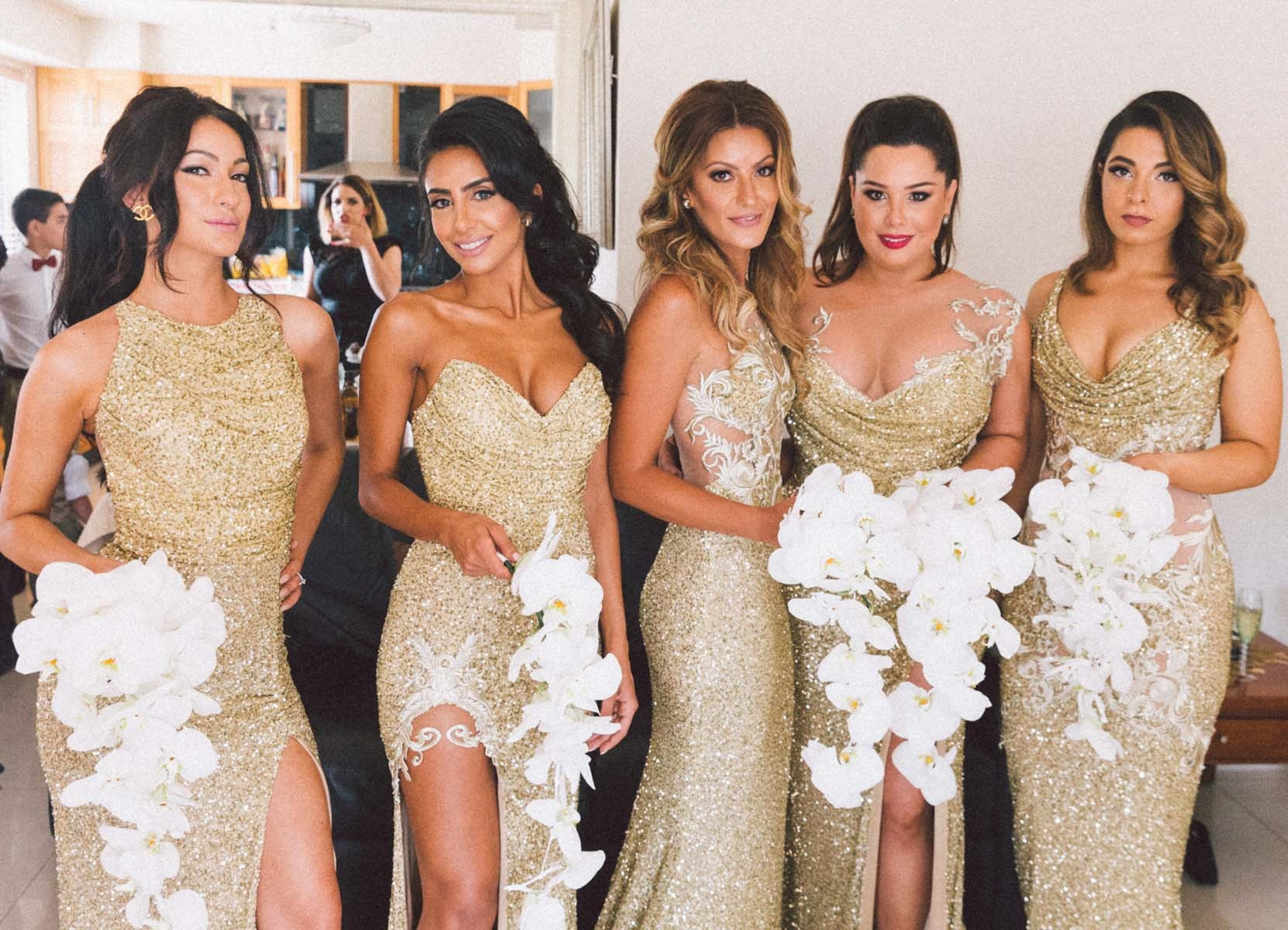 sparkly-gold-bridesmaids-dresses