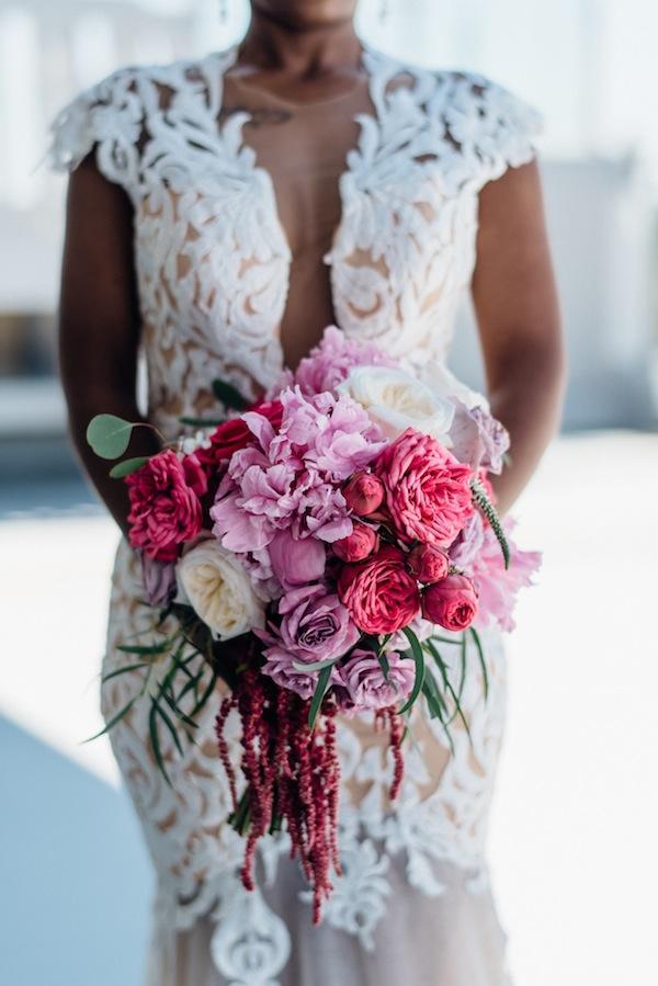 hanging lush bouquet