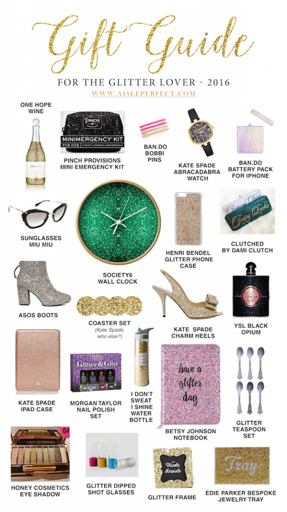 gift guide for the glitter lover