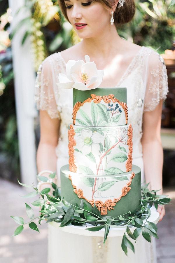 greenery-wedding-cake