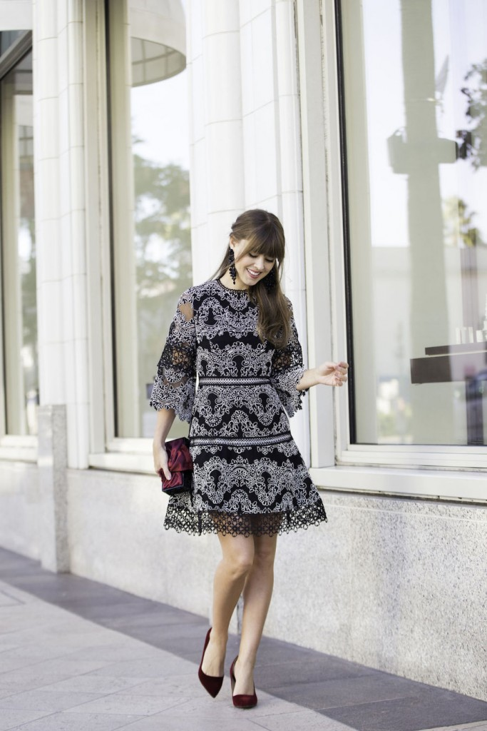 black-and-silver-wedding-guest-outfit