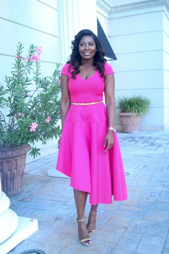 hot-pink-holiday-party-guest-wedding