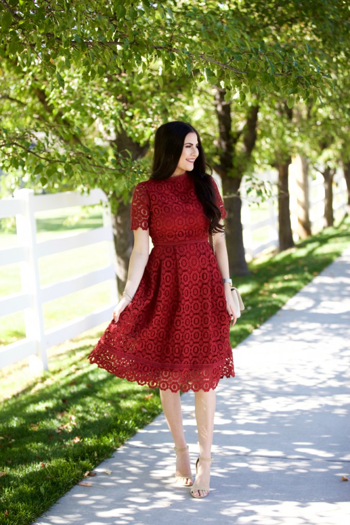 red-lace-wedding-guest-outfit