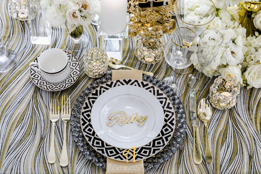 exclusive wedding decor black and gold luxury wedding decor by s couture 3949