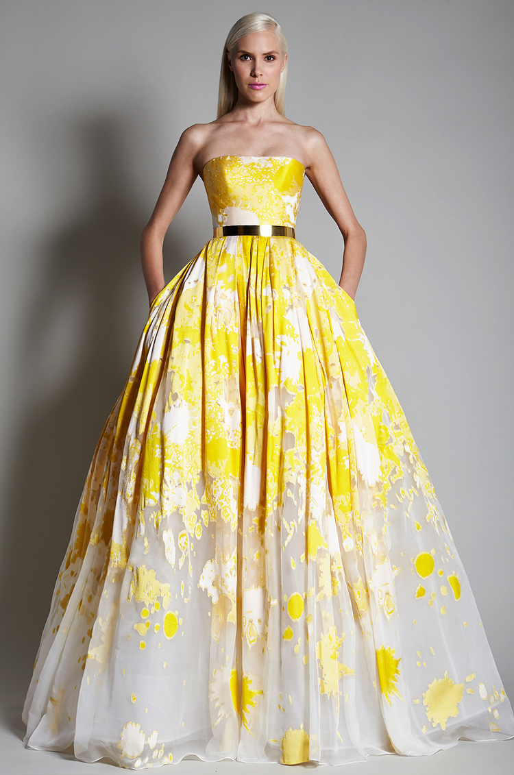 15 Yellow Wedding Dresses Perfect For Belle Beauty And