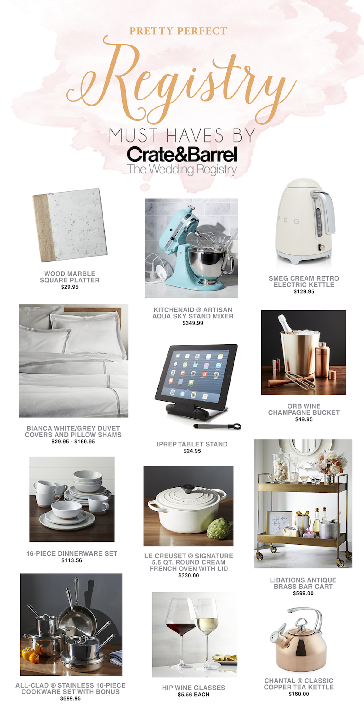 Crate Barrel Wedding Registry.Create Your Dream Wedding Registry With Crate And Barrel