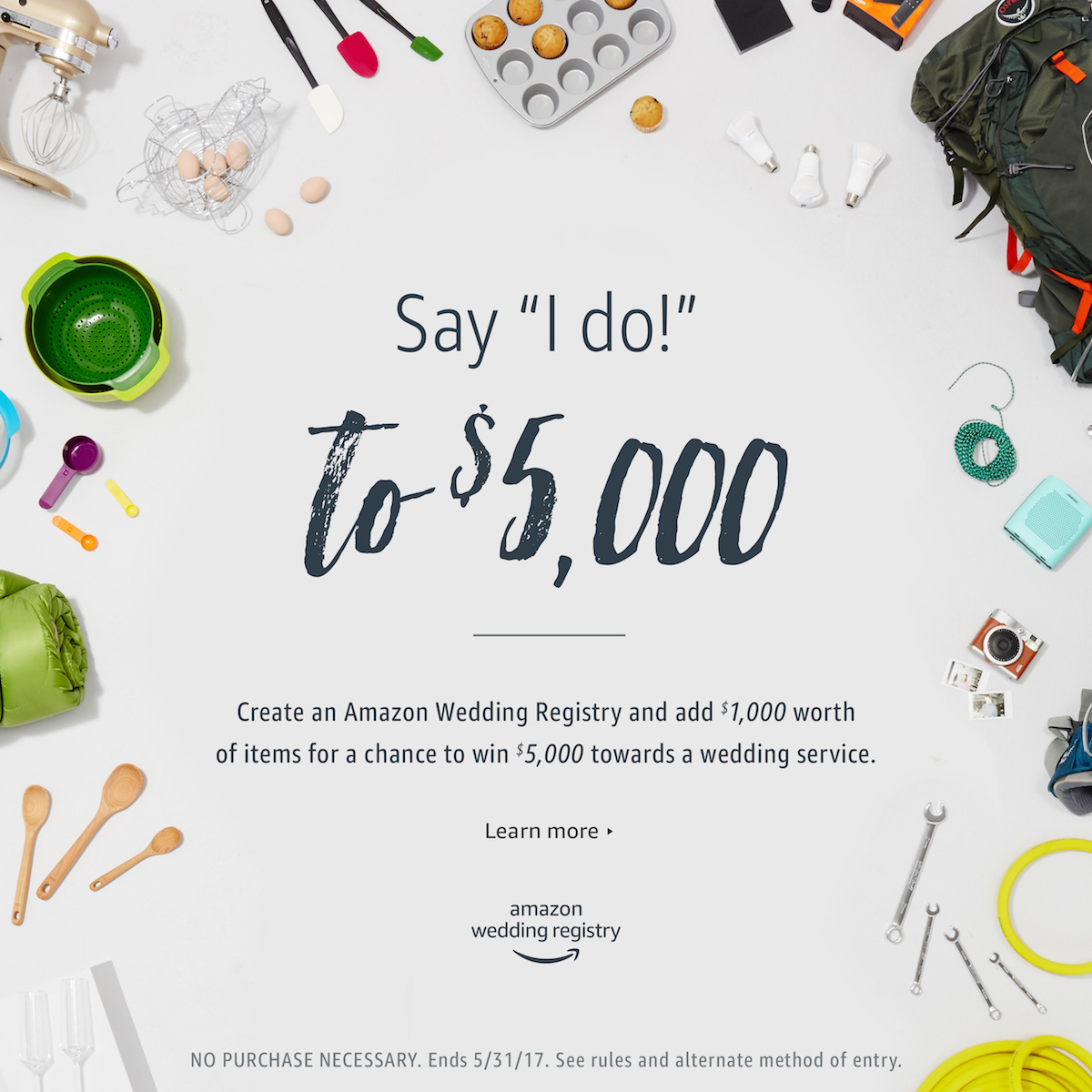 Say I Do To 5 000 With The Amazon Wedding Registry Sweepstakes