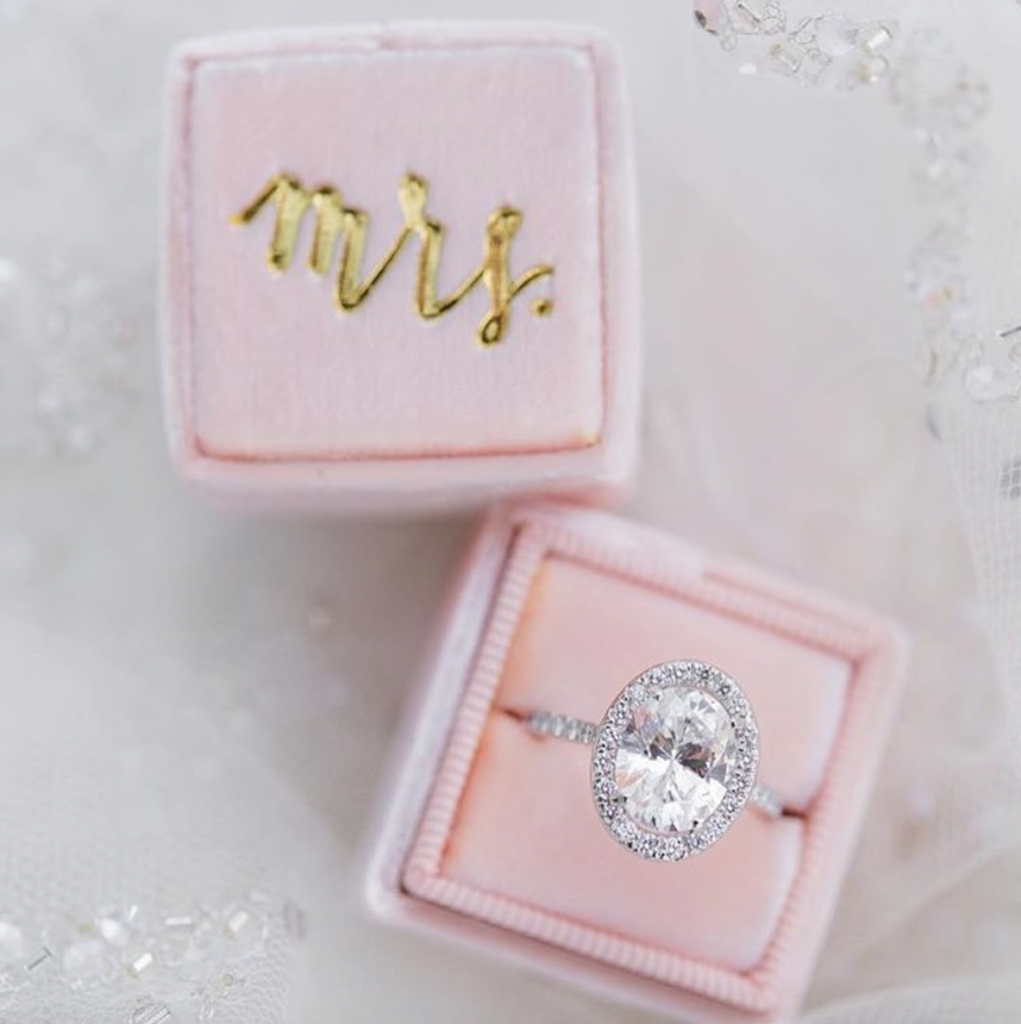 personalized ring box- newly engaged gifts