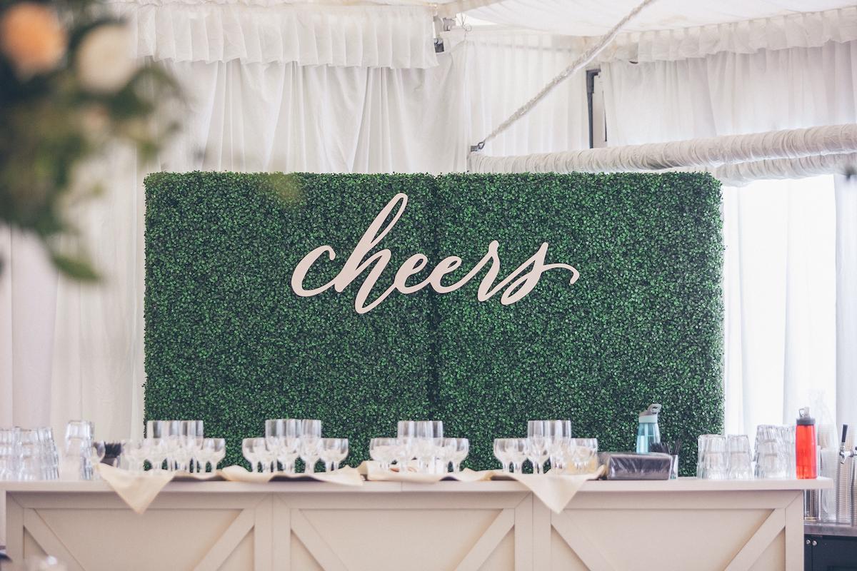 laser cut wedding bar sign