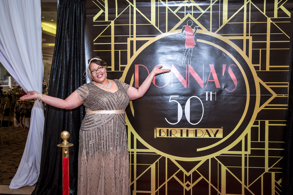 Our PrettyPerfectPartner Pretty Posh Events Planned Designed This Killer Gatsby Themed Party Donnas 50th Birthday Was A Celebration Of