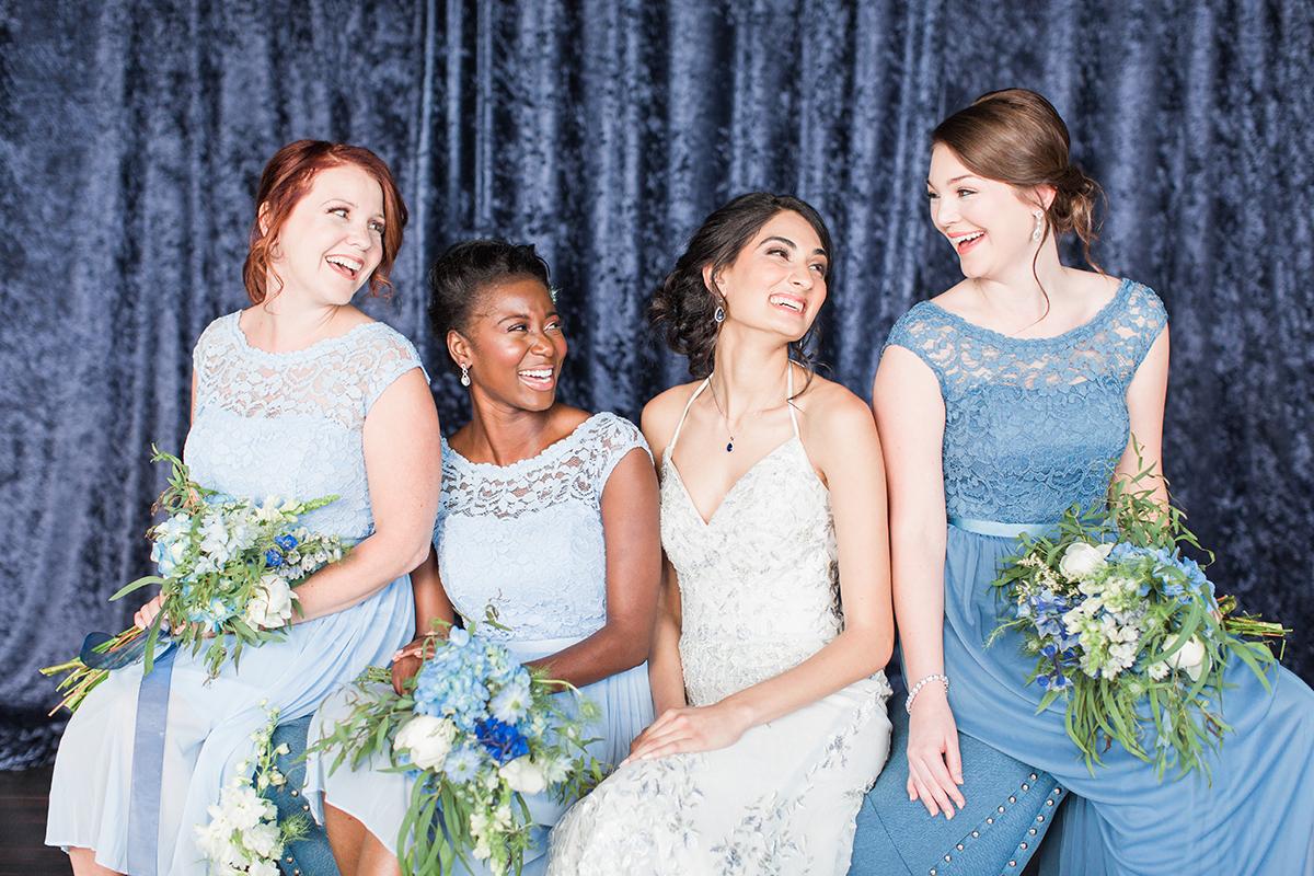 Something Blue Wedding Shoot Featuring David S Bridal Fall 2017