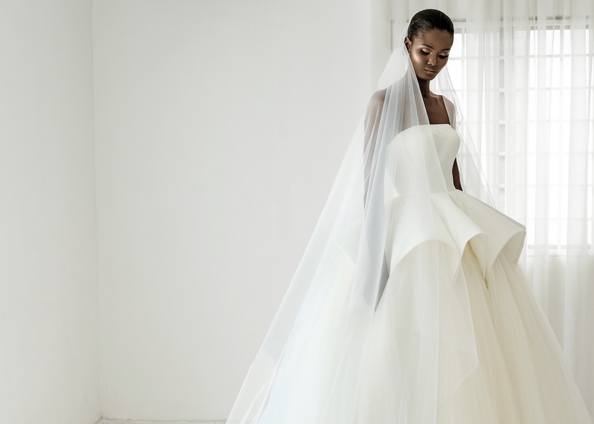 5b7fd510ed7 We re sending you off into the weekend with some killer wedding dress  inspiration. ANDREA IYAMAH released its 2018 Bridal Collection and the gowns  are ...