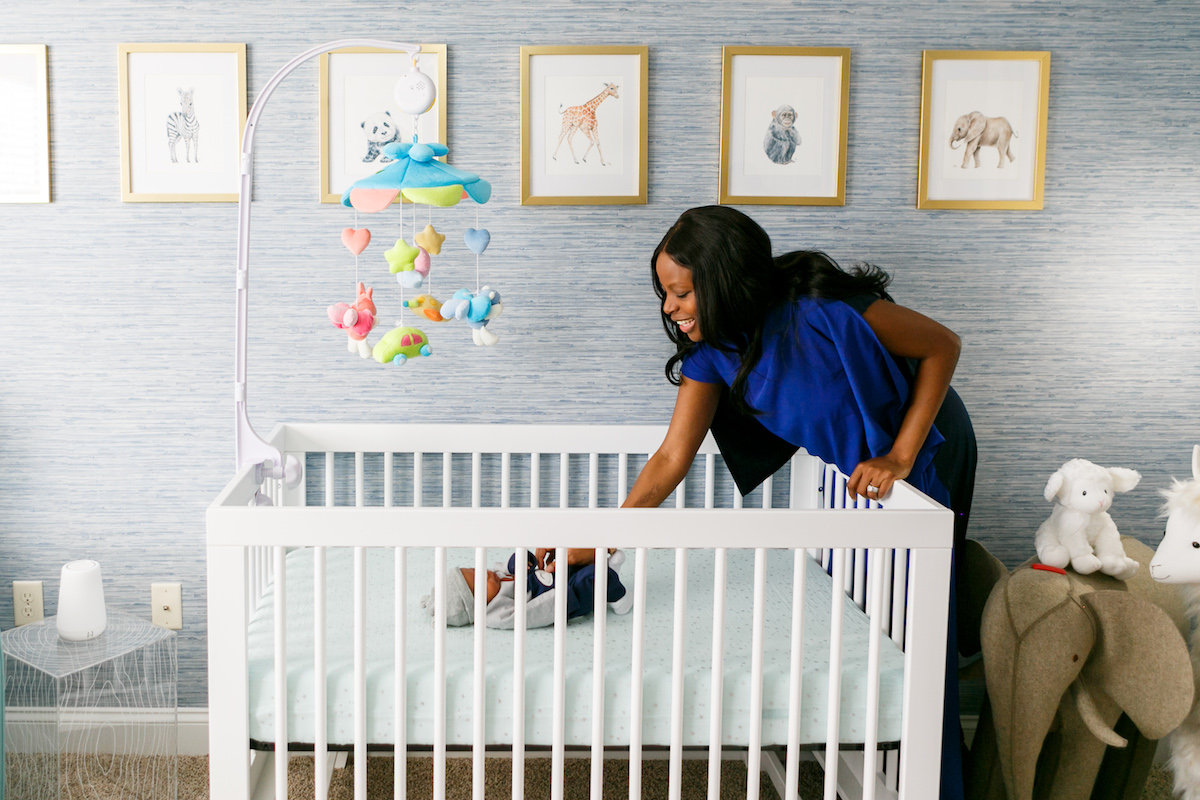 I M Taking A Quick Break From Maternity Leave To Share Our Colorful Blue Nursery For Baby Boy This Room Was Pion Project Me And Am