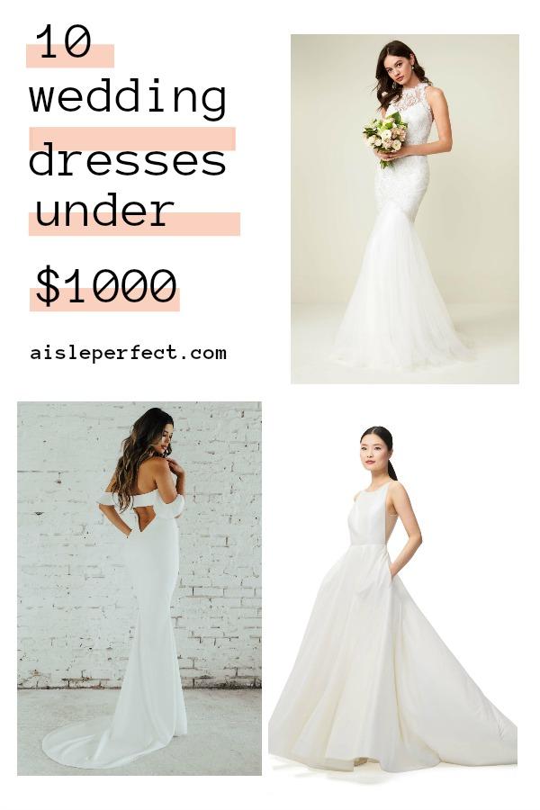 10 wedding dresses under 1000
