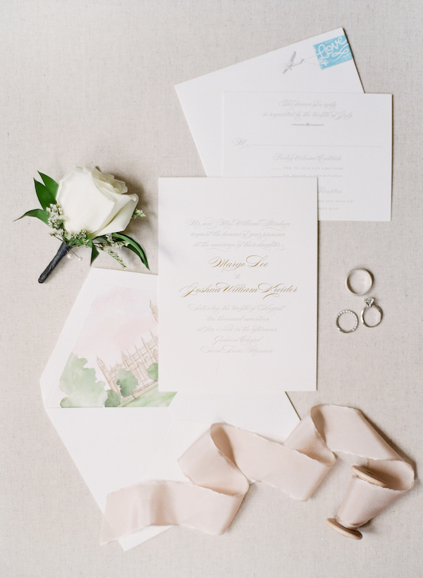 Invitation with watercolor liner