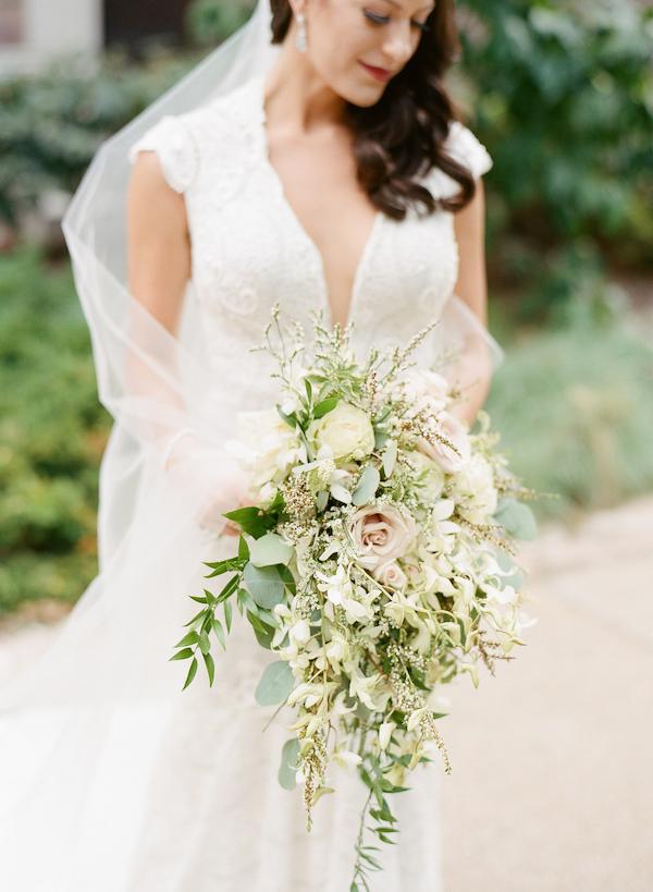 cascading greenery bouquet
