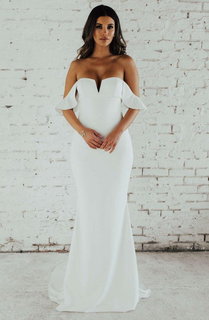 off shoulder wedding dress under 1000 dollars