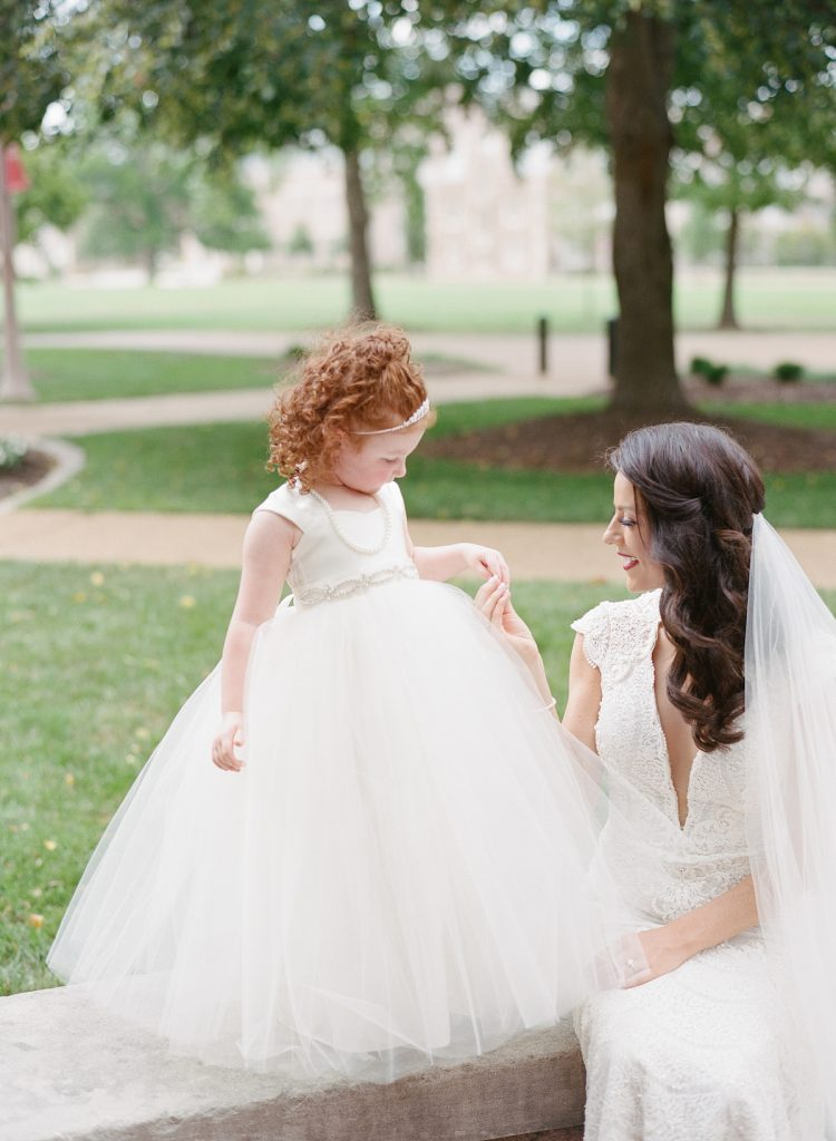 Bride and flower girl picture