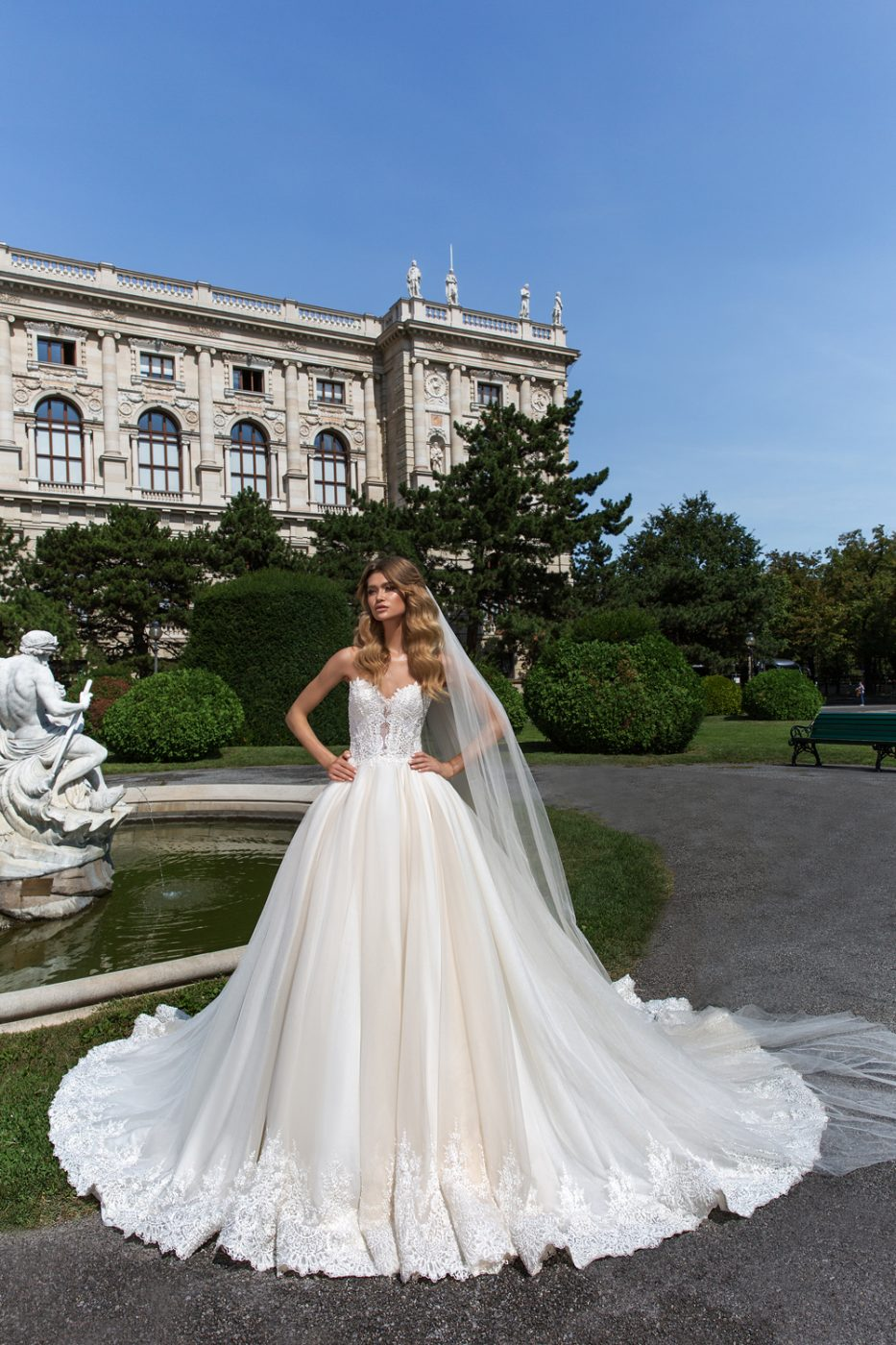 strapless statement ballgown by Crystal Design Couture